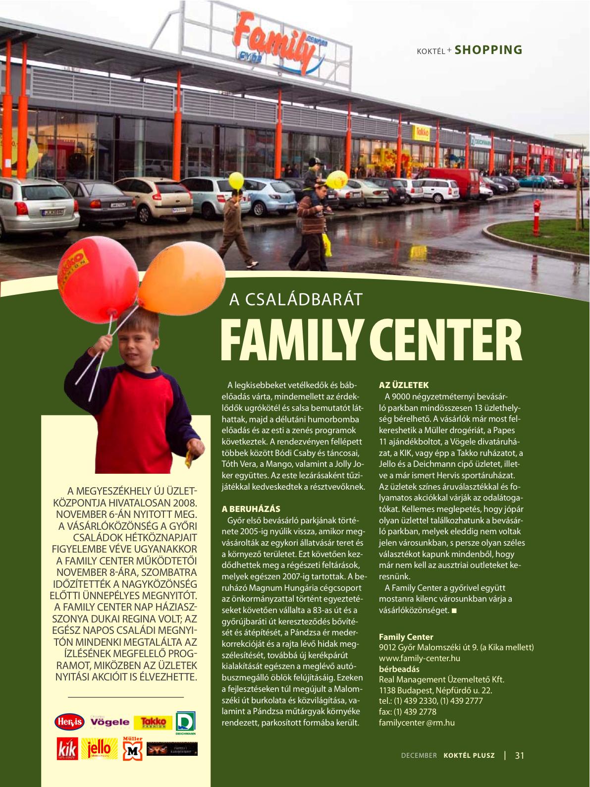family center: